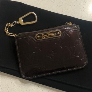 Louis Vuitton keychain cardholder patent leather